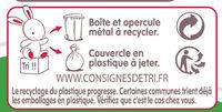 Croissance 3 - Istruzioni per il riciclaggio e/o informazioni sull'imballaggio - fr