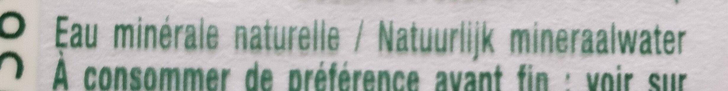 Eau minérale - Ingrédients - fr