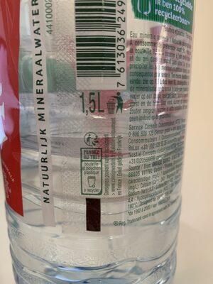 Eau minérale - Instruction de recyclage et/ou informations d'emballage - fr