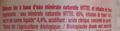 Fraise Bio infusée - Ingrediënten
