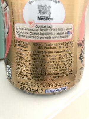 Nescafé gold - Ingredients