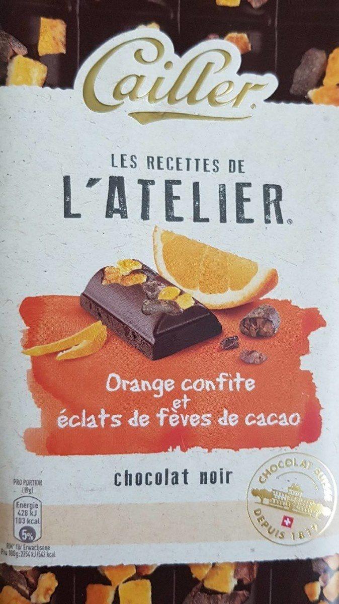 Chocolat noir orange confite et éclats de fèves de cacao - Product - fr
