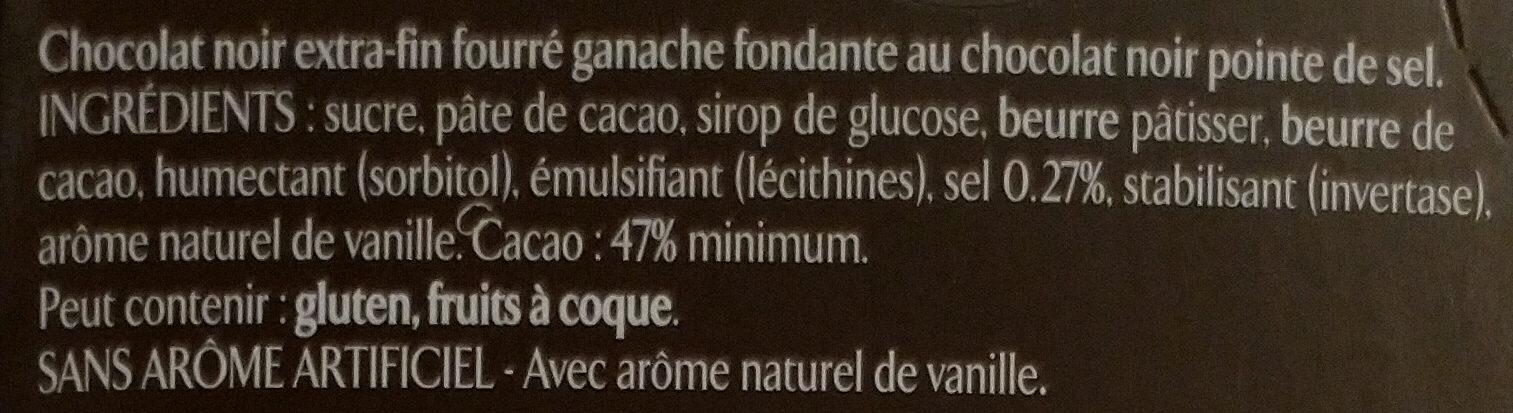 Ganache chocolat noir pointe de sel - Ingredienti - fr