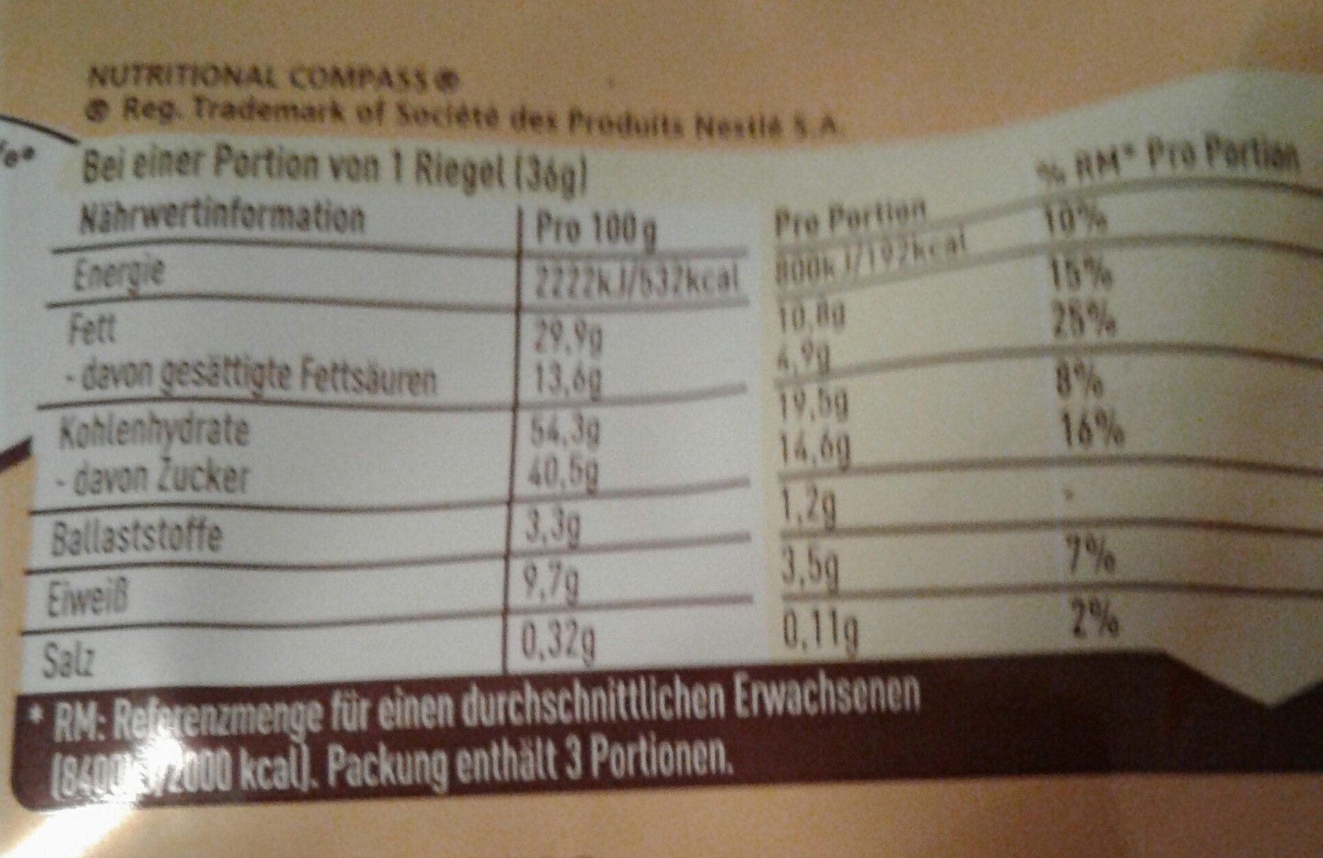 Snack Erdnuss - Nutrition facts