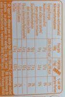 Milchschokolade mit orangenfullung - Nutrition facts - fr