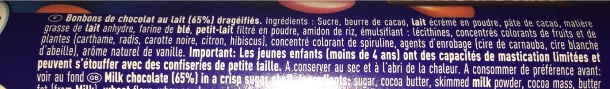 Smarties - Ingredients