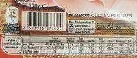 Le bon Paris tranché fin - Informations nutritionnelles - fr