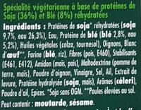 LE BON VEGETAL Escalope grillée soja et blé - Ingredienti - fr