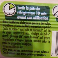 Pâte feuilletée - Ingrédients - fr
