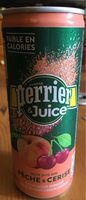 Perrier & Juice pêche & cerise - Product