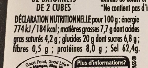 MAGGI KUB OR Bouillon 64 cubes - Voedingswaarden - fr
