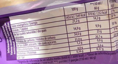 Crunchy chocolate - Informació nutricional