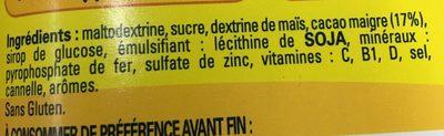Nesquik Moins de Sucre - Ingredientes