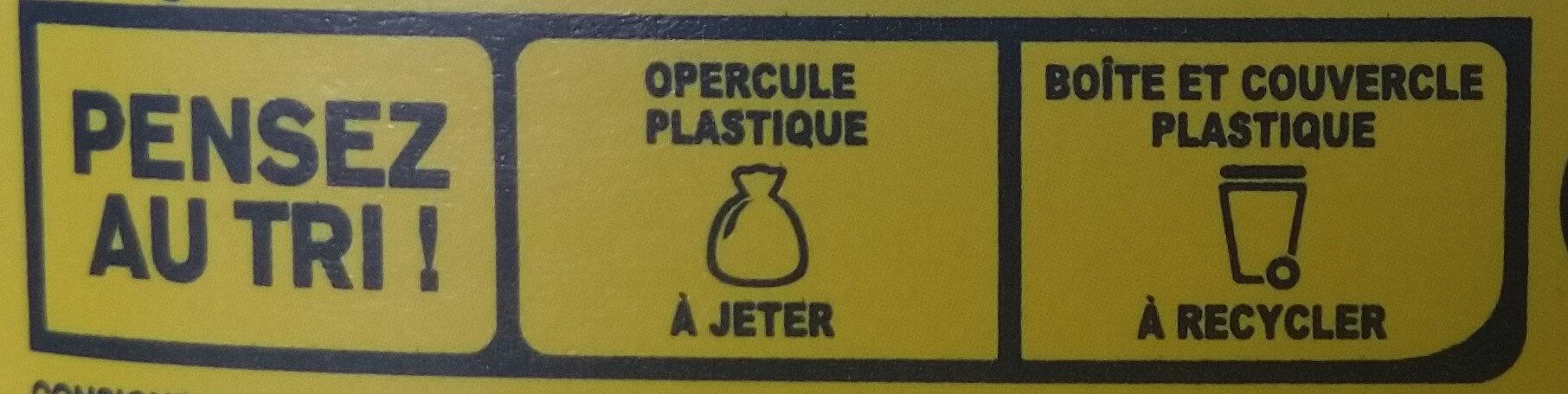 NESQUIK Moins de Sucres Poudre Cacaotée boîte - Istruzioni per il riciclaggio e/o informazioni sull'imballaggio - fr