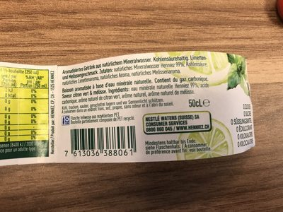 Saveur citron vert & mélisse - Ingrédients