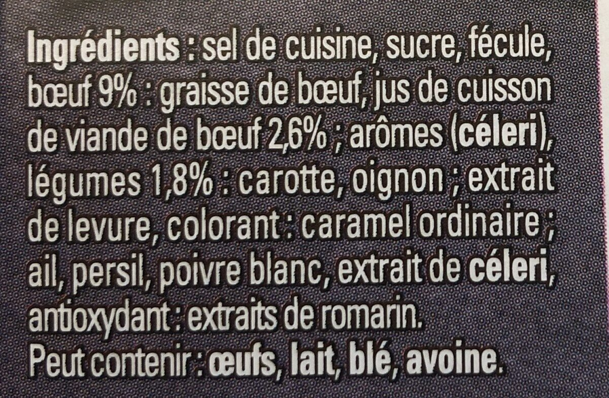 MAGGI Bouillon KUB Pot-au-feu Dégraissé x12 cubes - Ingredienti - fr