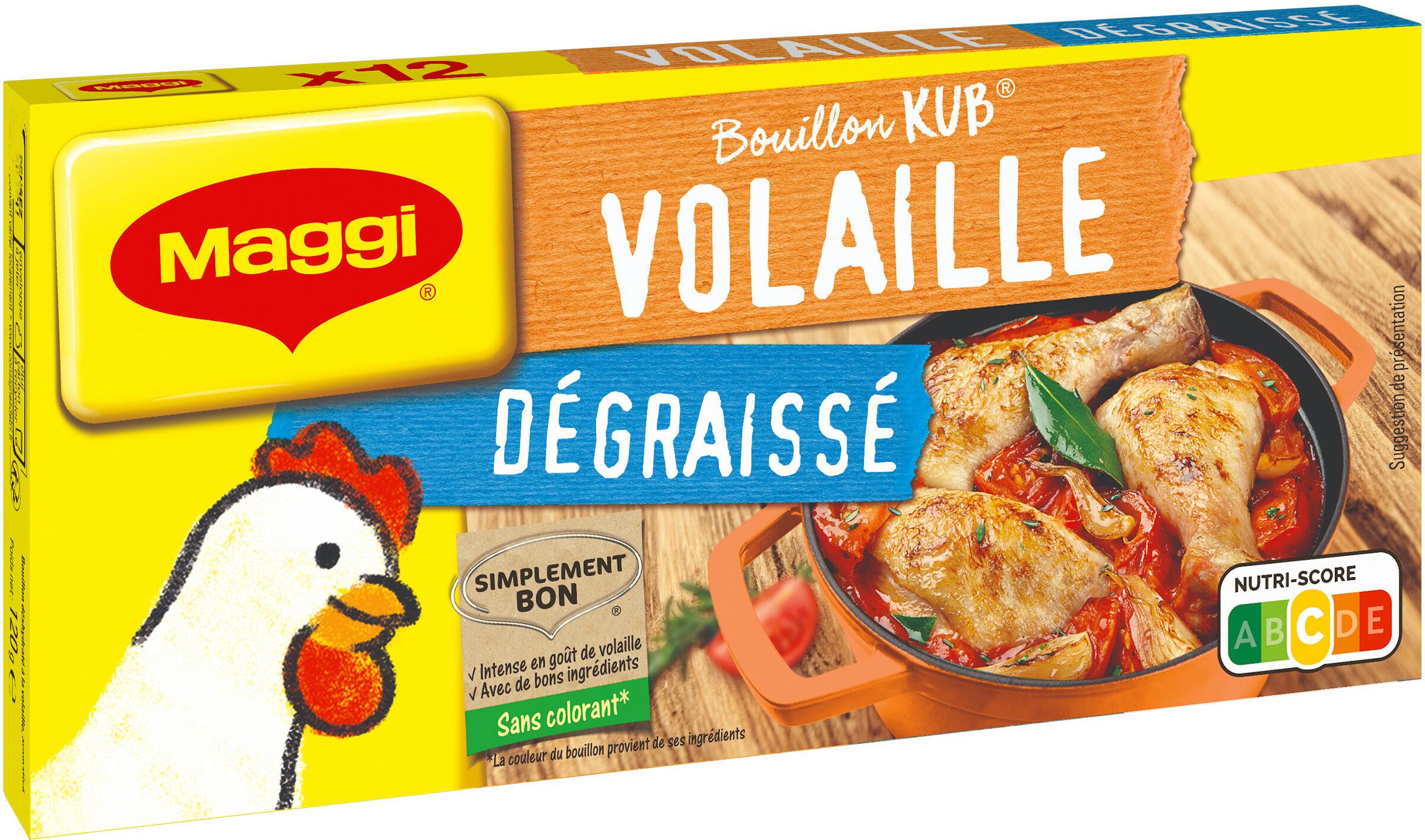 MAGGI Bouillon KUB Volaille Dégraissé x12 cubes - Product - fr
