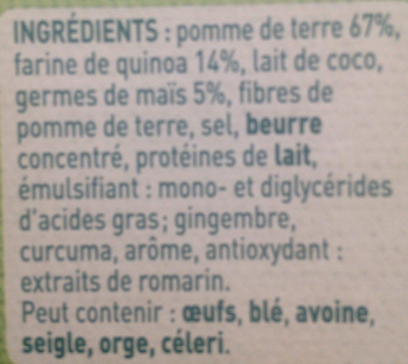 Mousseline - Ingrédients