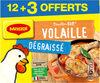 MAGGI Bouillon KUB Volaille Dégraissé x12+3 cubes Offerts - Produit