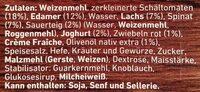Die Backfrische Lachs Spinat - Ingredients - de