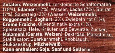 Die Backfrische Lachs Spinat - Ingredients