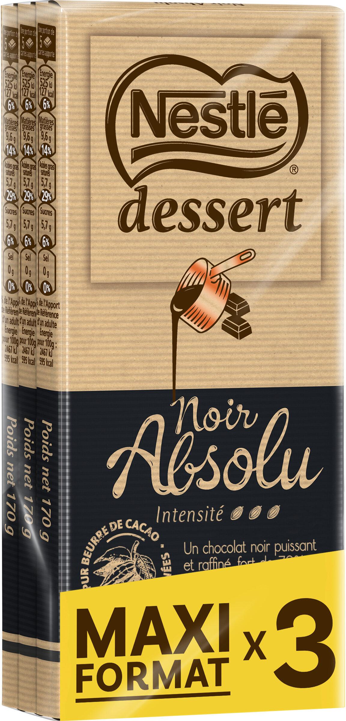 NESTLE DESSERT Noir Absolu 3x170g - Prodotto - fr
