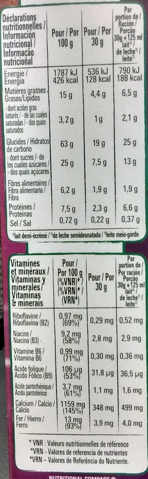 Chocapic ChocoCrush - Nutrition facts