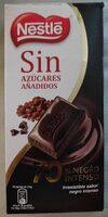Chocolate negro intenso sin azúcares añadidos - Product - es