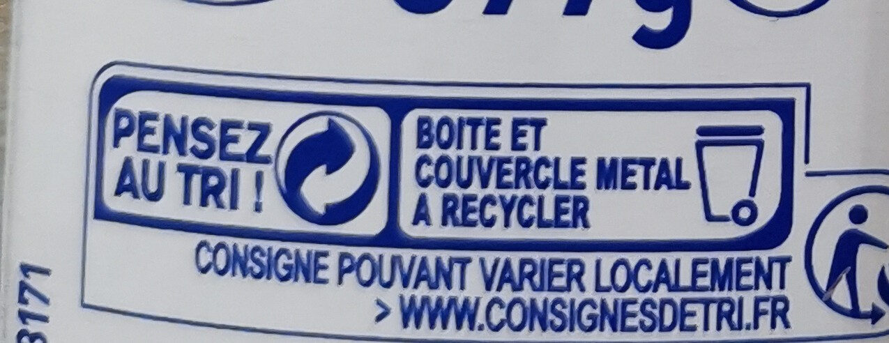 Lait concentré sucré - Recycling instructions and/or packaging information - fr