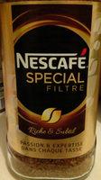 Nescafé spécial filtre - Nutrition facts - fr