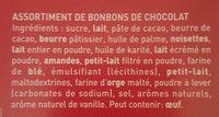 Lumières de Fêtes chocolats lait, noir et blanc - Ingredients - fr