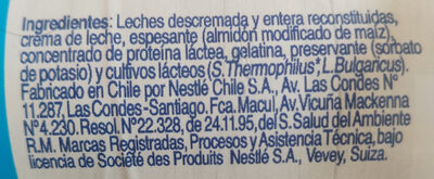 yogurt griego - Ingrédients - es
