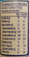 yogurt griego - Informations nutritionnelles - es