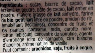 Père Noël Smarties - Ingrédients - fr