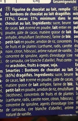 Smarties Édition Noël - Ingredients