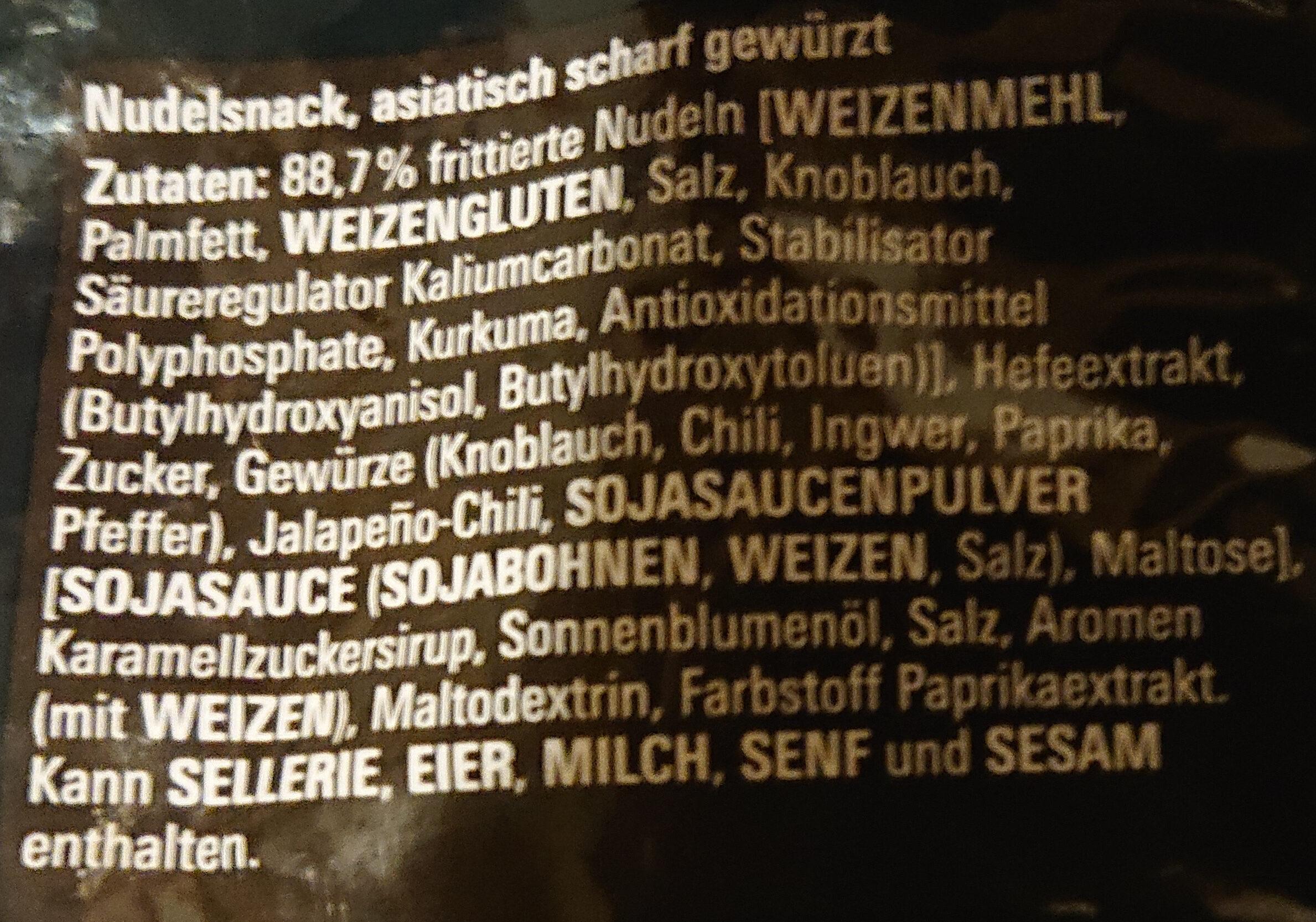 Maggi Nudel-Snack Chili - Ingredients