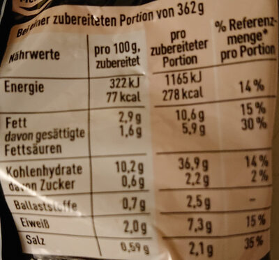 Maggi Nudel-Snack Chili - Nutrition facts