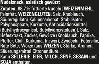 Nudel Snack Shrimps - Inhaltsstoffe - de