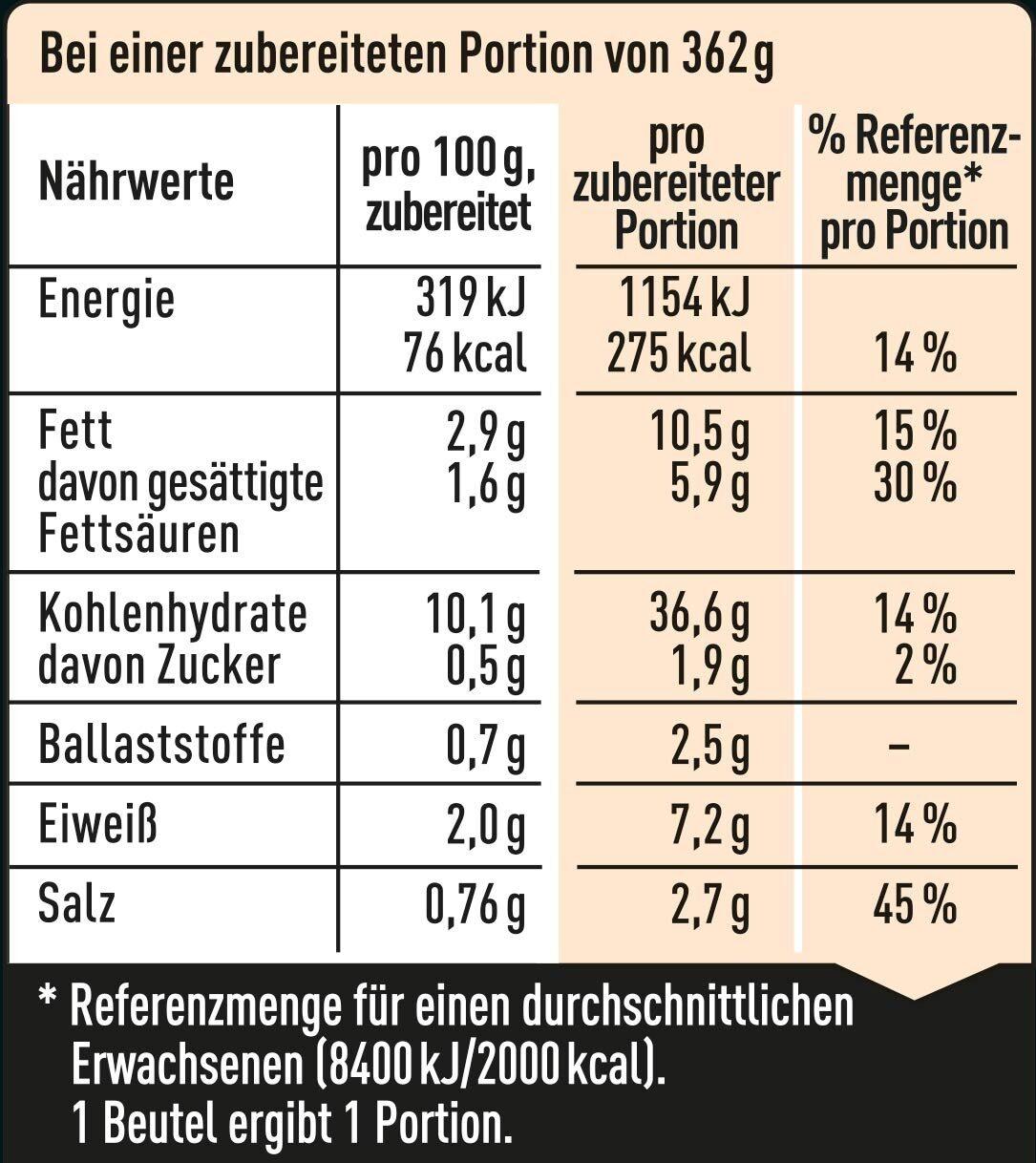 Nudel Snack Shrimps - Nährwertangaben - de