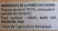 MOUSLINE Purée Bio Nature - Ingrediënten - fr