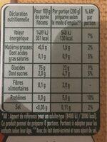 MOUSLINE Purée Bio Nature - Voedingswaarden - fr