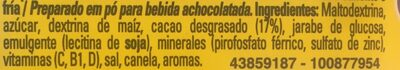 nesquik - Ingredientes