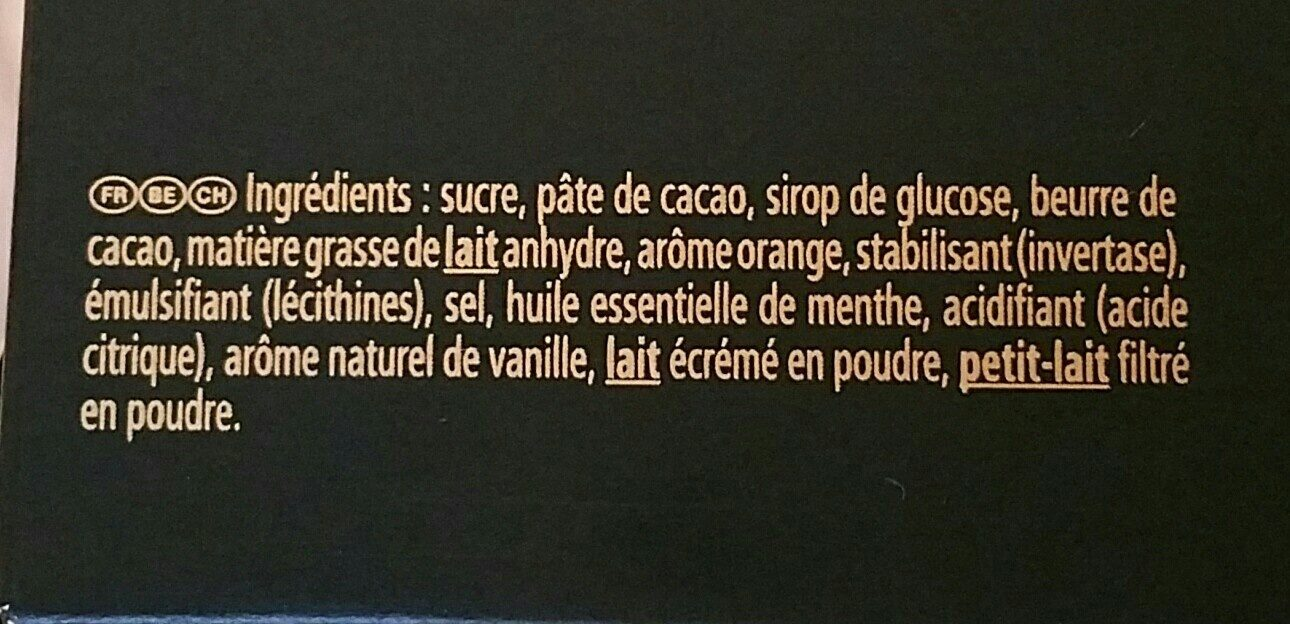 After eight mint orange - Ingrédients - fr