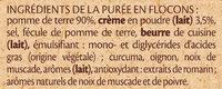 MOUSLINE Purée Crème Muscade 3x125g - Ingrédients - fr