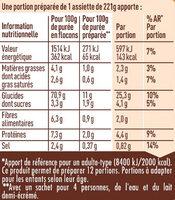 MOUSLINE Purée Crème Muscade 3x125g - Informations nutritionnelles - fr
