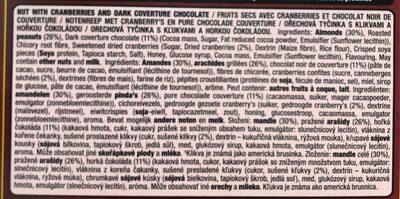 YES! Cranberries et Chocolat Noir - Ingrediënten