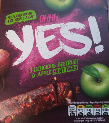 Beetroot and Apple Fruit Bar - Product - en