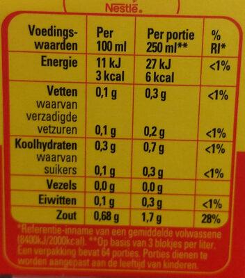 Maggi bouillon blokjes - Voedingswaarden - nl