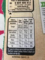 Escalope soja & blé - Informations nutritionnelles - fr