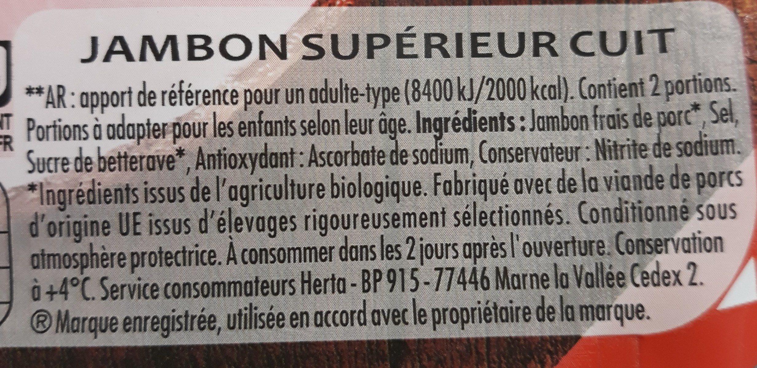 Jambon cuit à la broche - Ingredients - fr